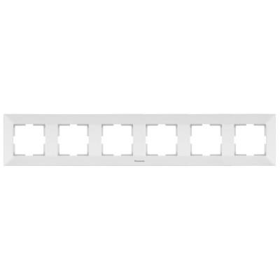Рамка 6-х постовая белая Аркадия WMTF08062WH-BY Panasonic