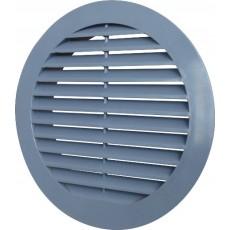 Решетка наружная ASA вентиляционная круглая D150 с фланцем D125, 12РКН серая