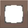 Рамка 1 местная WL11-Frame-01 коричневый алюминий серия Aluminium WERKEL