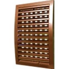 Решетка наружная ASA вентиляционная регулируемая 200х200, 2020РРПН коричневая