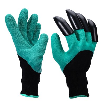 Перчатки Нейлон Облив Латекс 4 пластиковых когтя на правой руке Praktische Home G-110