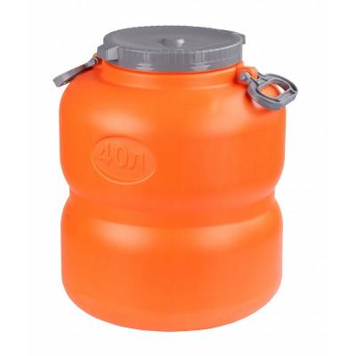 Канистра-бочка Байкал 40л (оранжево-серый)
