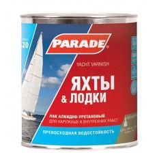 """Лак яхтный """"PARADE"""" L-20 алкидно-уретановый матовый 0,75 л"""