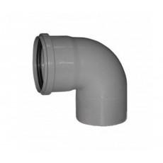 Отвод канализационный 110мм/87°