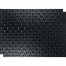 Материал для теплого пола STOUT с бобышками черный 1100х800х20