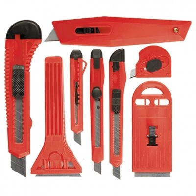 Набор ножей,выдвижные лезвия,9мм-4,18мм-2,+скребки//Matrix 78991