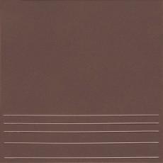 Клинкерная плитка  Амстердам-4 коричневый ступени 29,*29,8 см