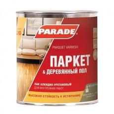 """Лак паркетный """"PARADE"""" L-10 алкидно-уретановый полуматовый 2,5 л"""