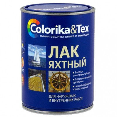 """Лак для яхт полуматовый """"Colorika&Tex"""" 0,8 л"""