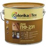 Лак ПФ-231 паркетный глянцевый «Colorika&Tex» для внутренних работ, 2,7 л