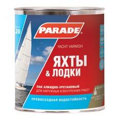 """Лак яхтный """"PARADE""""L-20 алкидно-уретановый глянцевый 2,5 л"""