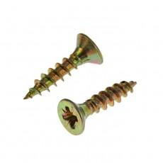 Шуруп для дерева 2,5х10 универсальный, потайная головка, желтый цинк, Pz-2 (1000шт)