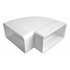 Колено горизонтальное пластик 90° 511КГП, 55х110