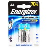 Батарейки ENERGIZER Maximum LR6/E91 AA /2шт/