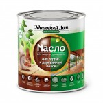 Масло для террас и деревянных полов махагон Здоровый Дом 0,75 л