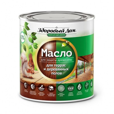 Масло для террас и деревянных полов бесцветный Здоровый Дом 0,75 л