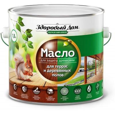 Масло для террас и деревянных полов бесцветное Здоровый Дом 1,8 л