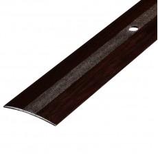 Порог А5-37мм алюминиевый Дуб венге №095 длина 0,9м