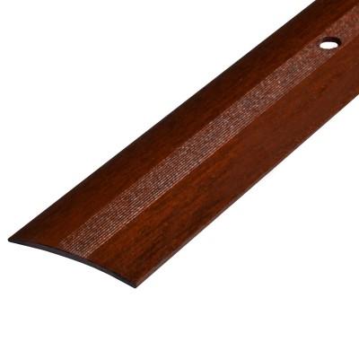 Порог А5-37мм алюминиевый декор цвет Венге №94 1,8 м