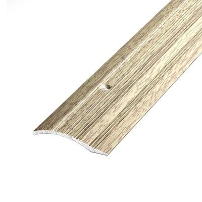Порог С4 39,4мм алюминиевый р/ур. декор Дуб беленый №087 длина 0,9м