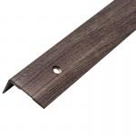 Порог АЛ-267 угол/упак/дуб серый 1,0 м