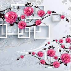 Декоративное панно VIP Розовые ветви 3D 294х260 (12л)