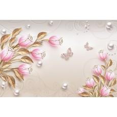 Декоративное панно Золотые тюльпаны 392х260 (16л) VIP