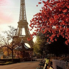 Декоративное панно Эйфелева башня 134х196 (4 листа)