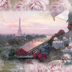 Декоративное панно Вечерний Париж 392х260 (16л) VIP
