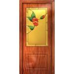 Дверь-вишня 97х201 Декоративное панно (3л)
