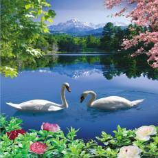 Декоративное панно Лебединое озеро 134х196 (4л)