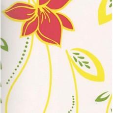 Пленка самоклеящаяся COLOR DECOR 0,45х8м белый фон красно-жёлтые цветы 5630
