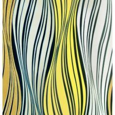 Пленка самоклеящаяся HONGDA 3426 Волнообразные серо-желтые полосы 0,45х8м