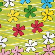 Пленка самоклеящаяся HONGDA 8575 Цветы на лугу 0,45х8м