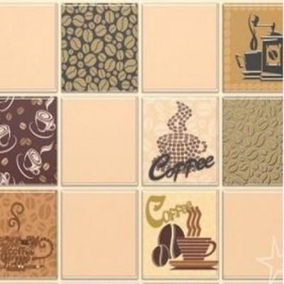 Панель ПВХ мозаика кофе с молоком бежевый 0,4 мм
