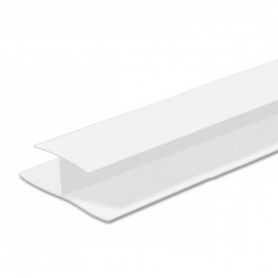 """Н-профиль ПВХ """"Идеал Белый глянцевый 3 м, 8 мм"""