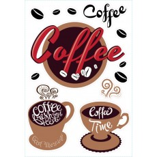 Набор декоративных наклеек OK 1004 Декоретто Аромат свежего кофе
