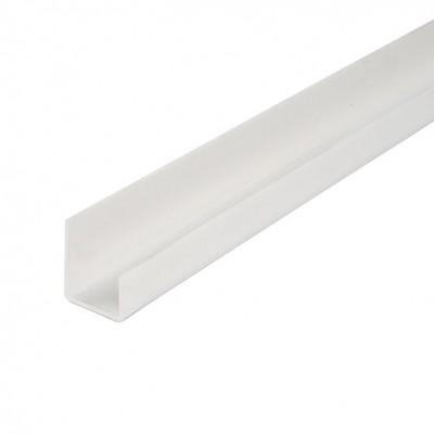 """L-профиль (стартовый) ПВХ """"Идеал"""" Белый глянцевый, 3 м, 8 мм"""