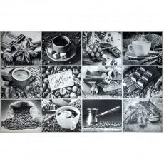 Панно-фартук ПВХ Кофейный набор 3Д рельеф 602х1002х0,5 мм