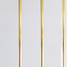 Панель ПВХ Кронопласт 3-х секционная золото 3000х240х8 мм