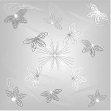 Потолочная плита Бабочки жемчуг Флекс Колор