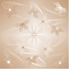 Потолочная плита Бабочки кофе Флекс Колор