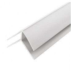 """Угол наружный ПВХ """"Идеал"""" Белый глосси, 3 м, 8 мм"""