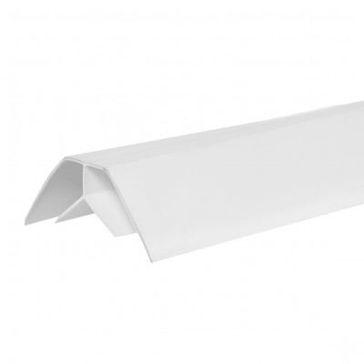 """Угол внутренний ПВХ """"Идеал"""" Белый, глосси, 3 м, 8 мм"""