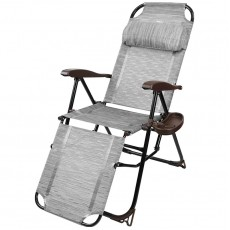 Кресло-шезлонг с подножкой и полкой (КШ3/4 бамбук)
