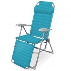 Кресло-шезлонг 3 К3/Б с подножкой складное бирюзовый