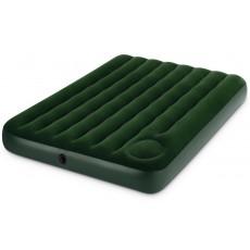 Кровать флок INTEX Downy, 137x191x22см, встроенный насос, зеленый