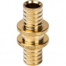 Муфта соединительная равнопроходная 16 для труб из сшитого полиэтилена аксиальный STOUT
