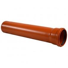 Труба D 110 L=2м красно-коричневая РР