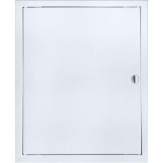 Люк-дверца ревизионная ЛТ2040М 260х460 с фланцем 200х400 с ручкой стальная с покрытием полимер